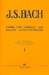 Bach, Johann Sebastian: Chöre und Choräle aus Bachs Kantatenwerk Band 1, für Posaunenchöre,   Partitur