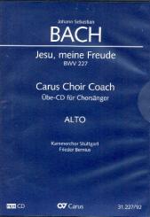 Bach, Johann Sebastian: Jesu meine Freude BWV227 - Chorstimme Alt Playalong-CD