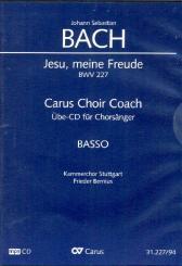 Bach, Johann Sebastian: Jesu meine Freude BWV227 - Chorstimme Bass Playalong-CD