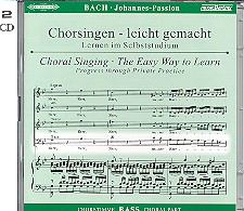 Bach, Johann Sebastian: Johannes-Passion BWV245 2 CDs Chorstimme Baß und Chorstimmen, ohne Bass