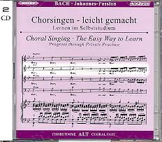 Bach, Johann Sebastian: Johannes-Passion BWV245 2 CDs Chorstimme Alt und Chorstimmen, ohne Alt