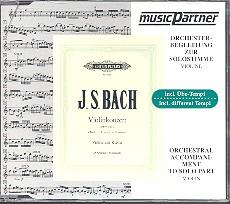 Bach, Johann Sebastian: Konzert a-Moll BWV1041 für Violine und Orchester, CD mit der Begleitung zum Soloinstrument in 3 Tempi