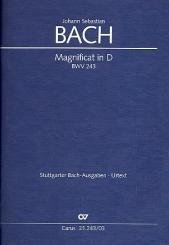 Bach, Johann Sebastian: Magnificat D-Dur BWV243 für Soli (SSATB), Chor (SSATB) und Orchester, Klavierauszug