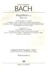 Bach, Johann Sebastian: Magnificat D-Dur BWV243 für Soli (SSATB), Chor (SSATB) und Orchester, Flöte 2