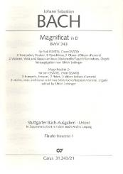 Bach, Johann Sebastian: Magnificat D-Dur BWV243 für Soli (SSATB), Chor (SSATB) und Orchester, Flöte 1