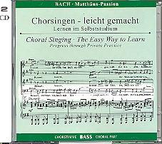 Bach, Johann Sebastian: Matthäus-Passion BWV244 2 CDs Chorstimme Baß und Chorstimmen, ohne Bass