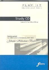 Bach, Johann Sebastian: Sonate g-Moll BWV1034 für Blockflöte und Cembalo Playalong-CD