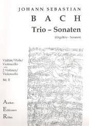 Bach, Johann Sebastian: Trio-Sonaten Band 2 für Violine, Viola (Violoncello) und Violoncello, Stimmen