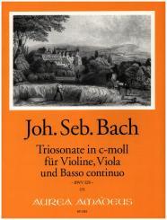 Bach, Johann Sebastian: Triosonate c-Moll BWV528 für Violine, Viola und Bc