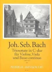 Bach, Johann Sebastian: Triosonate C-Dur BWV529 für Violine, Viola und Bc, Stimmen