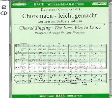Bach, Johann Sebastian: Weihnachtsoratorium BWV248 2 CDs Chorstimme Baß und Chorstimmen, ohne Bass