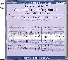 Bach, Johann Sebastian: Weihnachtsoratorium BWV248 2 CDs Chorstimme Tenor und Chorstimmen, ohne Tenor