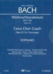 Bach, Johann Sebastian: Weihnachtsoratorium BWV248 Teil 1-6 - Chorstimme Sopran 4 Playalong-CD's