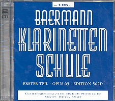 Baermann, Carl: Klarinettenschule Erster Teil op.63 2 CD's (Klavierbegleitung zu Band 4 / 502d), falsche Nummer aufgedruckt (980601)