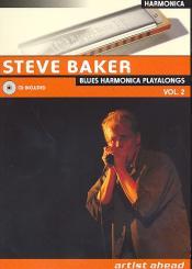Baker, Steve: Blues Harmonica Playalongs Band 2 (+CD, dt)