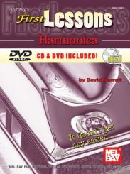 Barrett, David: First Lessons (+CD and DVD-Video) for harmonica
