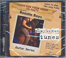 Beastie Boys Fight for your right to party CD Guitar Series Song Lesson Level 3, Play it now tunes