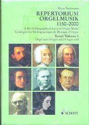 Beckmann, Klaus: Repertorium Orgelmusik Band 1 und Band 2 biobibliographischer, Index der Orgelmusik