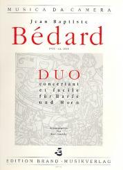 Bedard, Jean Baptiste: Duo concertant et facile für Harfe und Horn