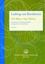 Beethoven, Ludwig van: 4 Walzer aus WoO8 für Violine und Harfe
