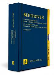 Beethoven, Ludwig van: Kammermusik mit Streichinstrumenten Studienpartitur (13 Bände im Schuber)