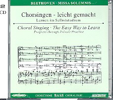 Beethoven, Ludwig van: Missa solemnis 2 CDs Chorstimme Bass und Chorstimmen, ohne Bass