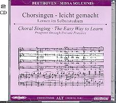 Beethoven, Ludwig van: Missa solemnis 2 CDs Chorstimme Alt und Chorstimmen, ohne Alt