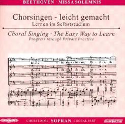 Beethoven, Ludwig van: Missa solemnis 2 CDs Chorstimme Sopran und Chorstimmen, ohne Sopran