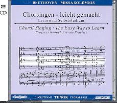 Beethoven, Ludwig van: Missa solemnis 2 CDs Chorstimme Tenor und Chorstimmen, ohne Tenor