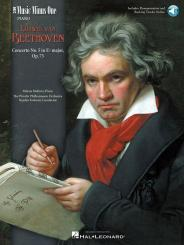 Beethoven, Ludwig van: Music minus one piano Concerto e flat major no.5, op.73 for piano and orchestra, book+2CD's