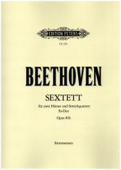 Beethoven, Ludwig van: Sextett op.81b für 2 Hörner und Streichquartett, Stimmen