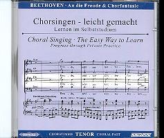 Beethoven, Ludwig van: Sinfonie d-Moll Nr.9 und Chorfantasie c-Moll op.80 CD Chorstimme Tenor und, Chorstimmen ohne Tenor