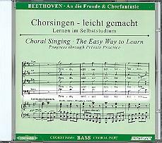 Beethoven, Ludwig van: Sinfonie d-Moll Nr.9 und Chorfantasie c-Moll op.80 CD Chorstimme Baß und, Chorstimmen ohne Bass