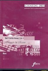 Bel-Canto-Arien (Baß) vol.1 CD mit Lern- und Begleitfassung