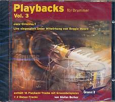 Berker,  Stefan: Playbacks für Drummer vol.3 CD Jazz-Grooves Band 1