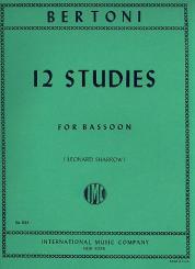 Bertoni, Umberto: 12 Studies for bassoon