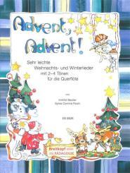 Beutler, Irmhild: Advent Advent für 1-2 Flöten (Klavier/Gitarre ad lib), Spielpartitur und Klavierbegleitung