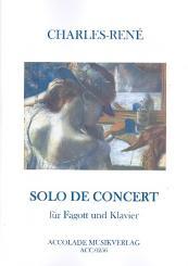 Bibard, Charles-Oliver-René (gen. Charles-René): Solo de concert für Fagott und Klavier für Fagott, Violine, Viola und Violoncello, Stimmen