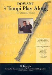 Bigaglia, Diogenio: Sonate a-Moll (+CD) für Sopranblockflöte und Cembalo