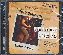 Black Sabbath - Paranoid CD Guitar Series Song Lesson Level 1, Play it now tunes