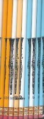 Bleistift Klarinette farbig sortiert (10Stk)