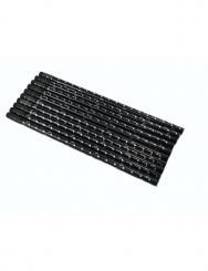 Bleistift mit Radiergummi Noten schwarz/silber 10 Stück