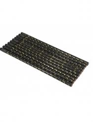 Bleistift mit Radiergummi Noten schwarz/golden 10 Stück