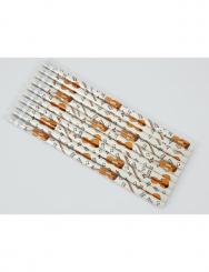 Bleistift mit Radiergummi Violine 4C weiß 10 Stück