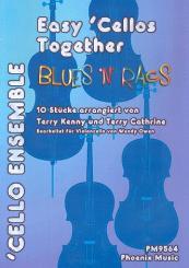 Blues 'n' Rags für 4 Violoncelli ( Ensemble), Partitur und Stimmen