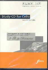 Boismortier, Joseph Bodin de: 2 Sonaten op.26 für Violoncello und Cembalo Playalong-CD