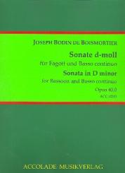 Boismortier, Joseph Bodin de: Sonate d-Moll op.40,1 für Fagott und Bc