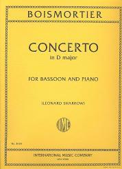 Boismortier, Joseph Bodin de: Konzert D-Dur für Fagott und Orchester für Fagott und Klavier