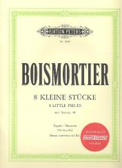 Boismortier, Joseph Bodin de: 8 kleine Stücke aus op.40 (+CD) für Fagott und Klavier