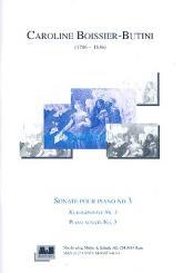Boissier-Butini, Caroline: Sonate Nr.3 für Klavier